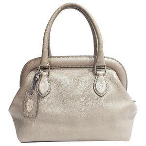 Fendi Selleria gray leather sterling silver bag